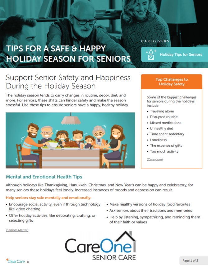 Support Senior Safety and Happiness During the Holiday Season. - Southeast Michigan Home Care Blog Posts | CareOne Senior Care - 2019-12-09_1119