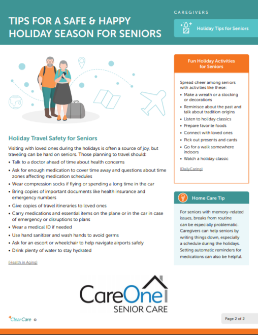 Support Senior Safety and Happiness During the Holiday Season. - Southeast Michigan Home Care Blog Posts | CareOne Senior Care - 2019-12-09_1122
